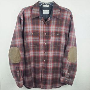 PENDLETON Plaid Flannel 100% Wool Outdoor Shirt